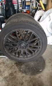 "Msr 18"" rims with tires"