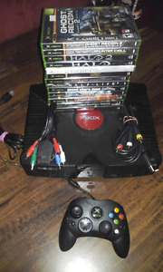 Modded Xbox Original with upgrade hard drive