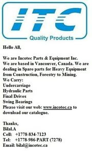 Parts for All Equipments (Incotec Parts & Equipment)