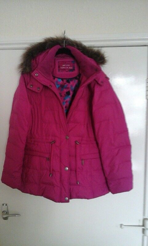 M & S Per Una (size med, 12) Feather & Down Jacket