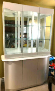 White Dining Display Cabinet