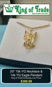 Gold Eagle Pendant & Chain - King of Trade