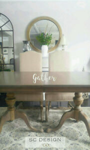 WEATHERED FARMHOUSE DINING TABLE