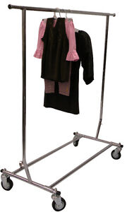 Collapsible Rolling Rack, clothes rack, heavy duty clothes rack
