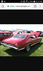Chevelle,beaumont back glass 1968-1972