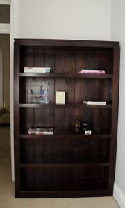 Solid Dark Wood Bookcase Marrickville Marrickville Area Preview