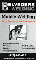 Mobile Welding, Repairs and Custom Fabrication. (Welder)