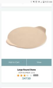 Pampered Chef round pizza stone