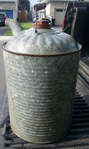Antique Old Metal Gas Can DECOR MAN CAVE Rustic Farm Barn