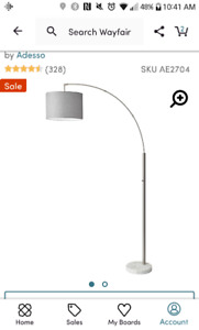 """Bowery Arched Floor Lamp 73.5"""""""