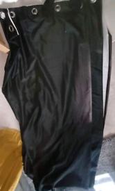 90x90 black curtains