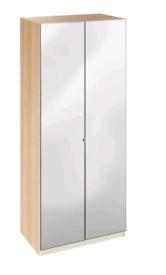 Wardrobe Ikea with mirror colour oak