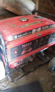 generatrice king canada 7500w