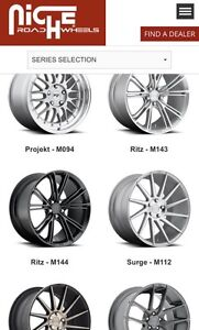 GET YOUR ORIGINAL NICHE WHEELS HERE! DEEP DISH; CONCAVE; 3 PIECE FORGED ALL AVAILABLE!!
