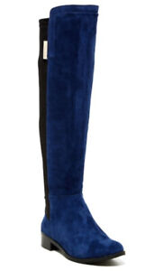 Vince Camuto knee high boots blue/black
