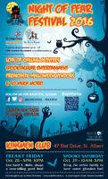 Night of Fear Festival Fri 5-10, Sat 10-5.