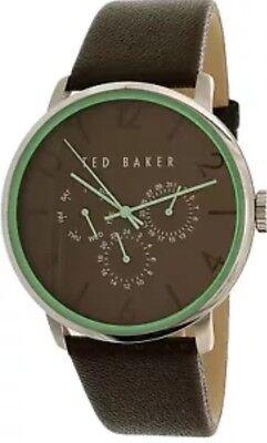 Ted Baker Men's 10023496 Brown Leather Quartz Dress Watch