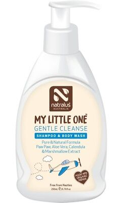 Natralus My Little One Gentle Cleanse Shampoo & Body Wash 200ml, Natural Shampoo