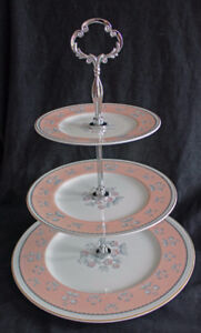 WEDGWOOD 3 TIERED CAKE STAND - PIMPERNEL