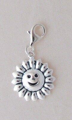 Sun or Flames Bead, Charm, Multipurpose, Smiling Sun, 1 1/2