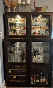 Fully equipped BAR for liquor & glassware storage & display