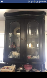 Price reduced..Beautiful solid wood china cabinet
