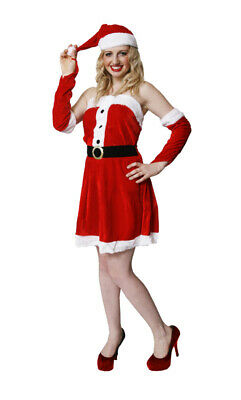 ADULT LADIES XMAS ELF COSTUME CHRISTMAS WOMEN SEXY - Lady Santa Outfit