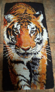 Hand hooked Tiger rug  $25
