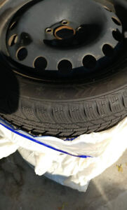 Winter tires with rims 205/50R16 by Evergreen.
