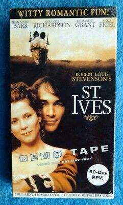 NEW SEALED ST. IVES VHS Tape Romance Jean Marc Barr Screener Copy Demo Tape