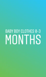 Baby Boy Clothes 0-3 Months Old