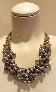 Stella and Dot Isadora Pearl Bib Necklace Retired