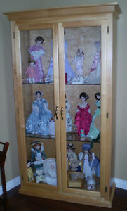 """""""PRICE REDUCED"""" Beautiful 7 ft. high Birch display case"""