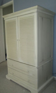 Cabinet/Armoire from Pier 1 can hold TV, and has drawers