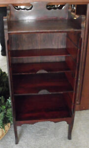 ANTIQUE VICTORIAN MUSIC CABINET STAND SHELF