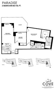 Large 2 Bed/2bath at Parklawn / Lakeshore in New Cove Building