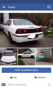 2004 Chevy Impala 800 obo or trade