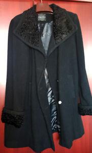 Ladies 3/4 Length Wool Coat