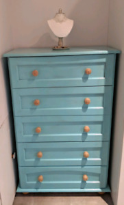 Meuble ancien turquoise