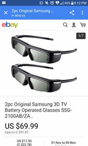 Samsung 3D battery operated glasses Kitchener / Waterloo Kitchener Area image 2