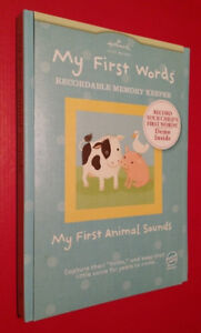 ▀▄▀Hallmark Recordable Storybook My First Animal Sounds&ABC's