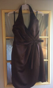 Chocolate brown Alfred Angelo bridesmaid dress