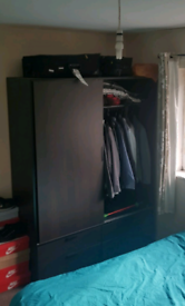Trysil wardrobe, chest of drawers and side table set