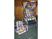Dolls pushchair and carry cot for sale