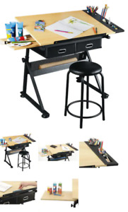 Arts and Crafts Drafting Desk Table