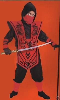 Red Ninja Lord Costume Small (4-6x) Boys Child Dress Up Dragon Halloween