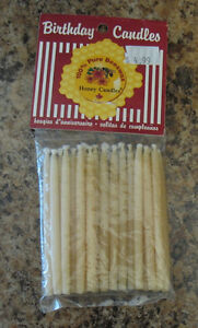 PURE BEESWAX BIRTHDAY CANDLES
