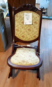 MOVING SALE - Antique folding rocking chair