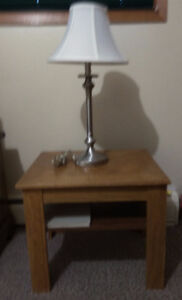 Bed Side Table (Ashley Furniture) + J.Harris Lampshade for sale