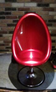 Retro egg chair Candy Apple fiberglass hair salon style chair